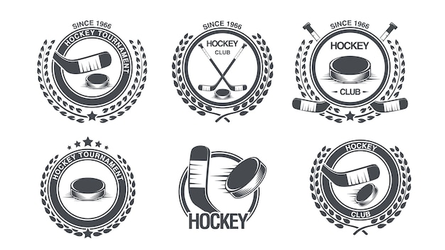 Set hockey icon