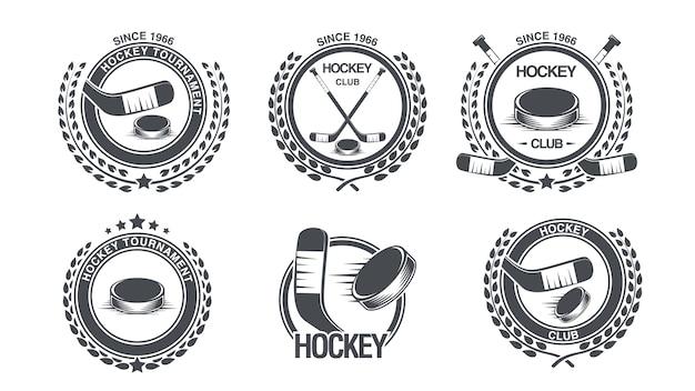Set hockey icon