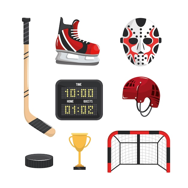 Set hockey sport professional equipment