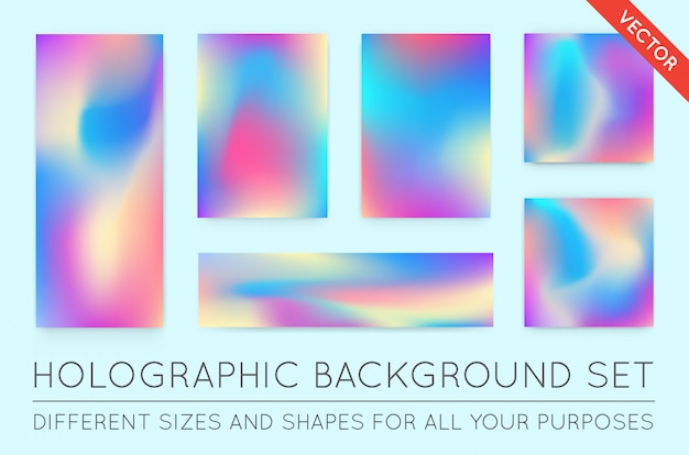 Set of holographic backgrounds.