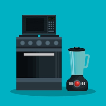 Set home appliances icons vector illustration design