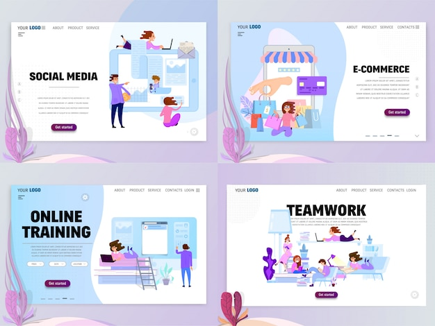 Set of home page templates