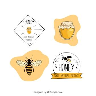 Установите мед значки и наклейки