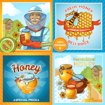 Set of honey compositions