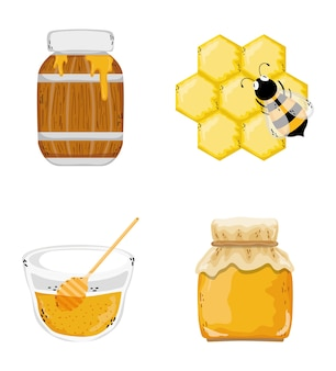 Set of honeycom icons
