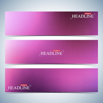 Set of horizontal multicolored backgrounds for your design. modern business template . vector illustration.