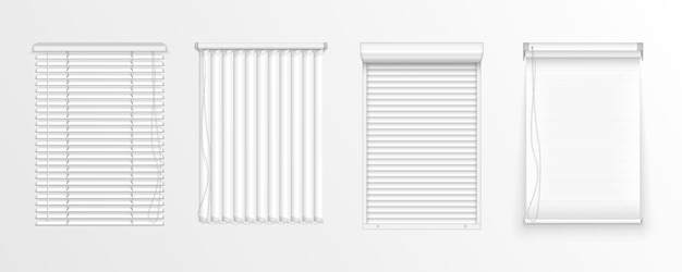 Set of horizontal and vertical blinds for window