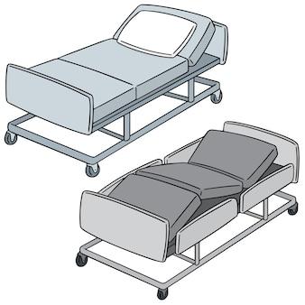 Set of hospital bed