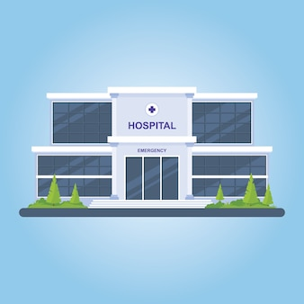 Set of hospital building illustration