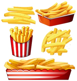 Set of hot chips