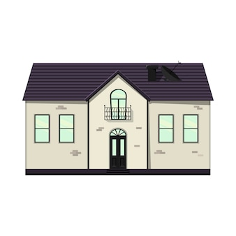 Set of houses on a white background for construction and design. cartoon style. vector illustration.