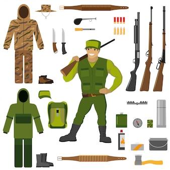 Set hunter equipment