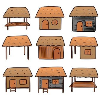 Set of huts