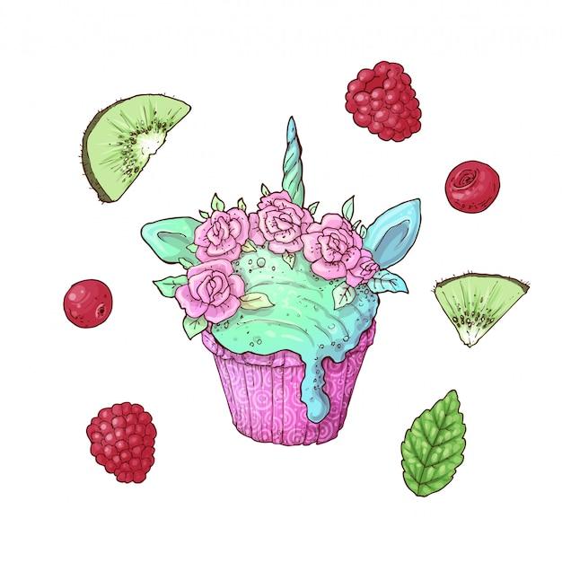 아이스크림 유니콘 키위 딸기 세트