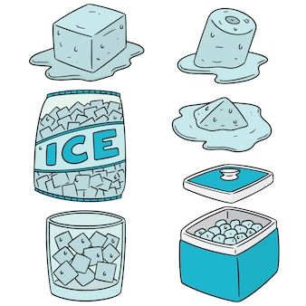Set of ice