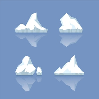 Set of icebergs