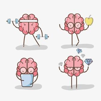 さまざまな活動をしてアイコンを愛らしいかわいい脳を設定する