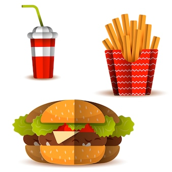 Set of icon fast food