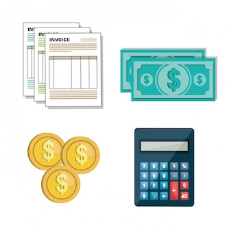 Set icon invoice design