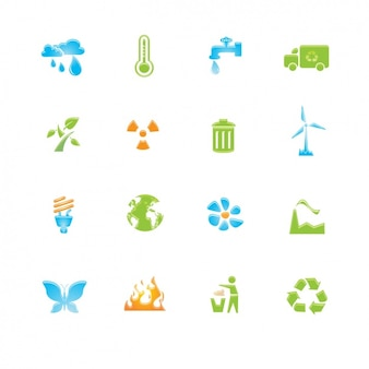 Set of icons about recycling