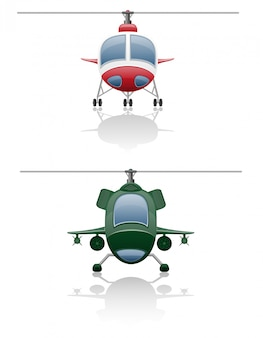 Set icons helicopter.