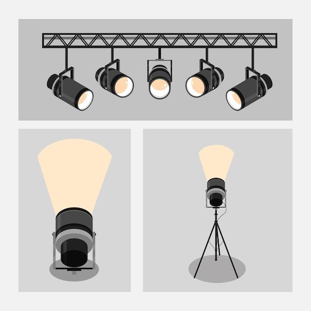 Установить значки прожекторов