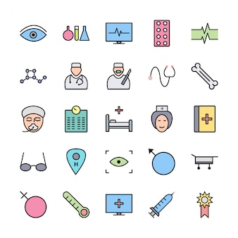Set of icons with medical theme