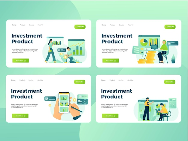 Set illustration of financial management activity to grow up their money