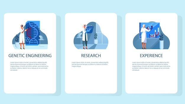 Set of  illustration of innovative healthcare.