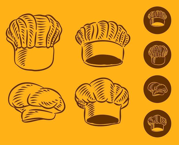 Установите иллюстрацию шляпы шеф-повара