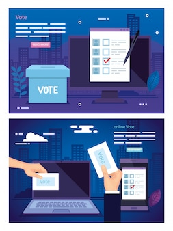 Set illustration of vote