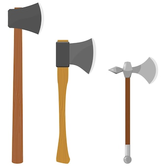 Set of illustrations of axes