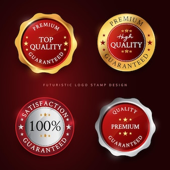 Набор иллюстраций премиального дизайна логотипа