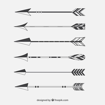 Set of indian arrows