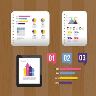 Infographiビジネスダイアグラム情報を設定する