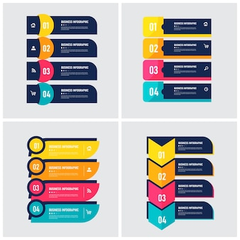 Set of infographic element template