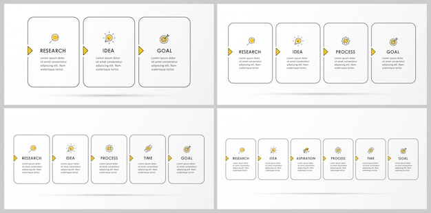Set of infographic template