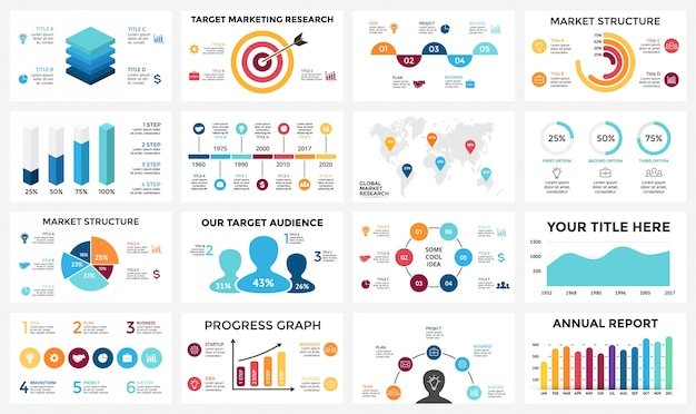 Set infographics for business concept. isometric infographic design -