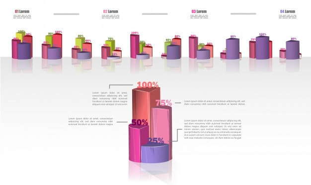 Set infographics of business cycle flow diagrams.