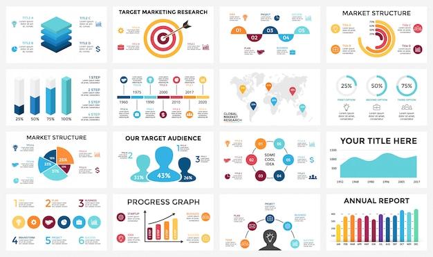 ビジネスコンセプトのインフォグラフィックを設定します。等尺性インフォグラフィックデザイン-