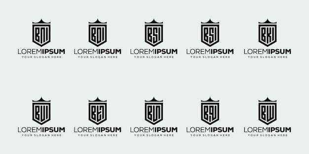 Set of initial letter b logo design