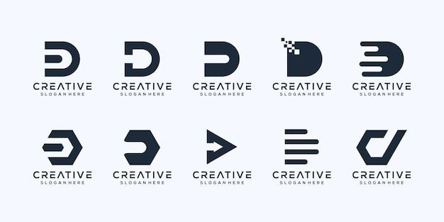 초기 문자 d 로고 디자인 설정