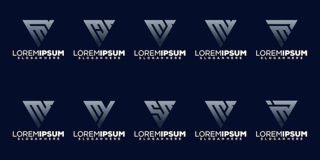 Установить буквицу m дизайн логотипа