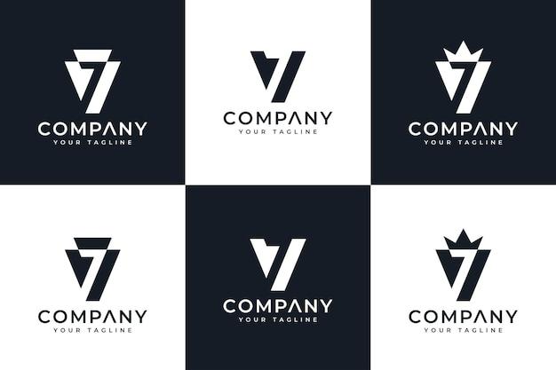 Set of initial v7 logo creative design for all uses