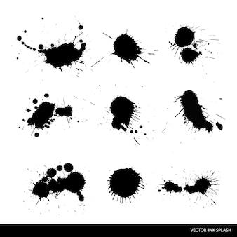 Set of ink splashes