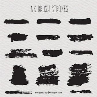 Set of ink strokes
