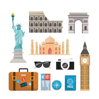 Set international travel recreation destination