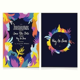 Set of invitation wedding card