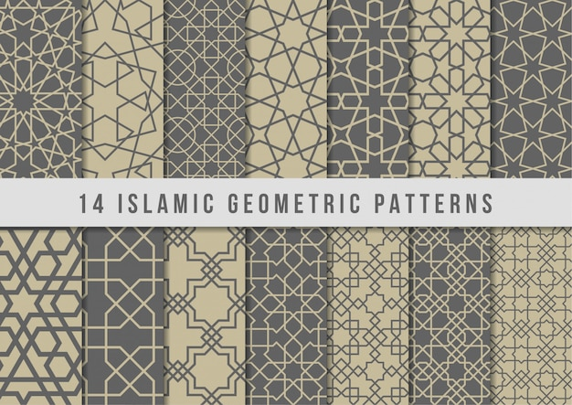 Set of islamic geometric patterns