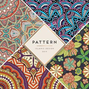 Set islamic pattern